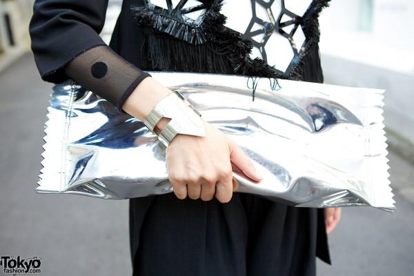 H&M x Maison Martin Margiela candy wrapper clutch