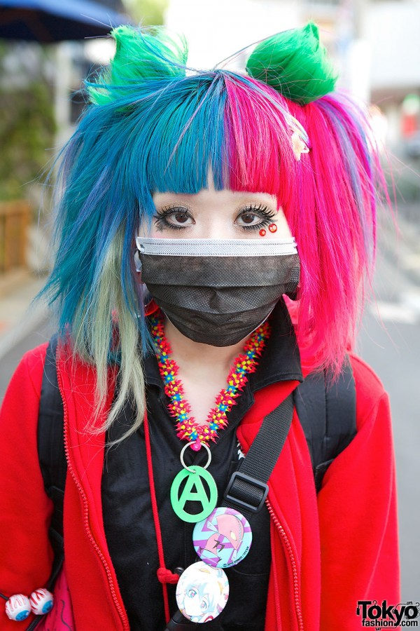 Blue Pink Hair