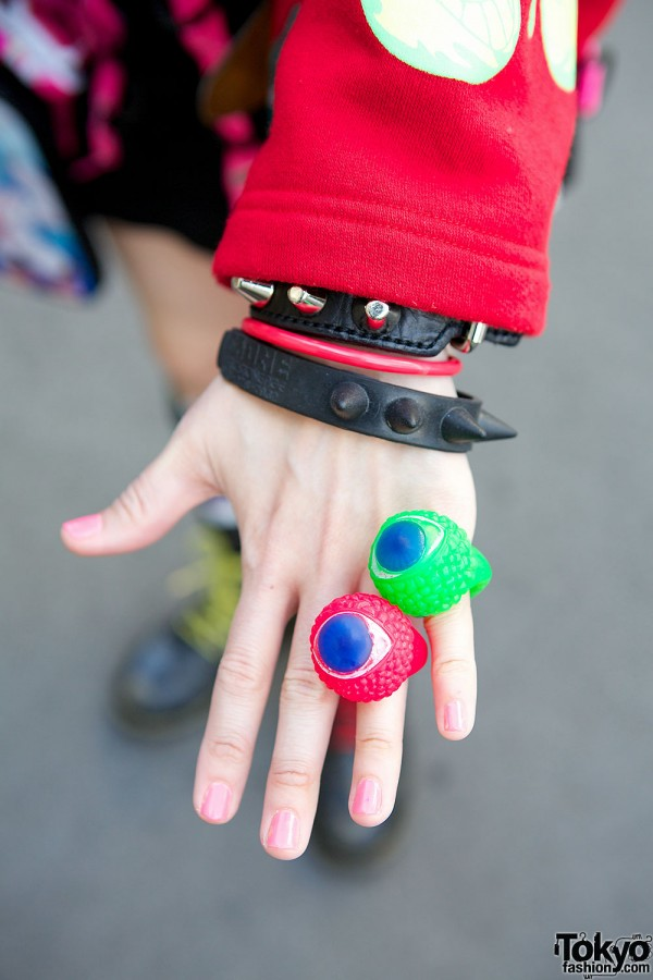 Colorful Eyeball Rings