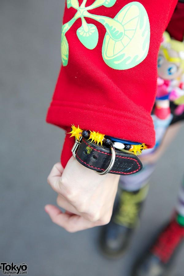 Mushroom Hoodie & Leather Bracelet