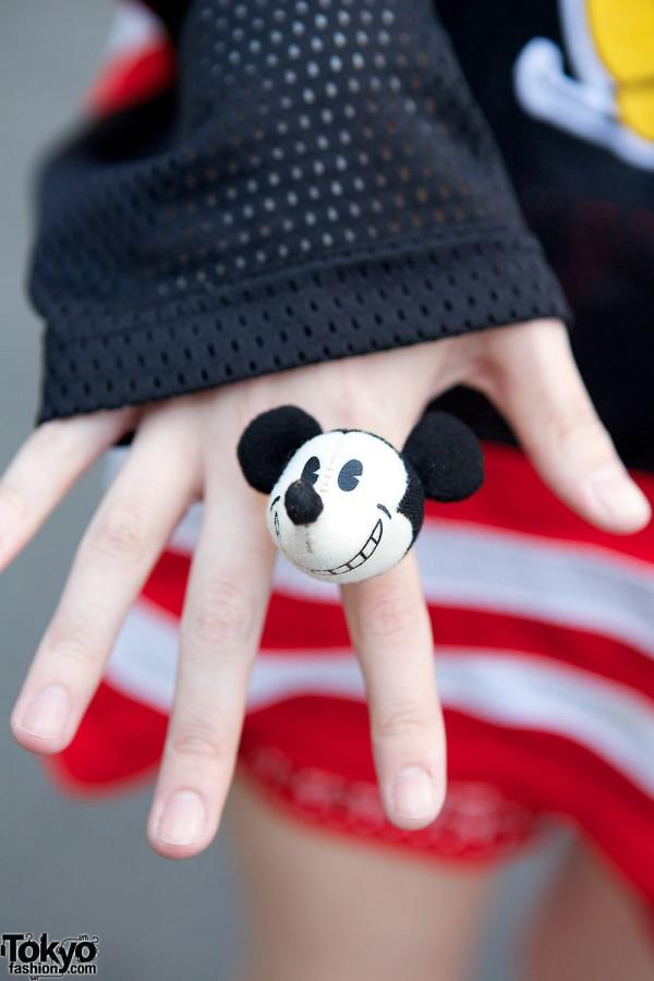 Kawaii Mickey Mouse ring