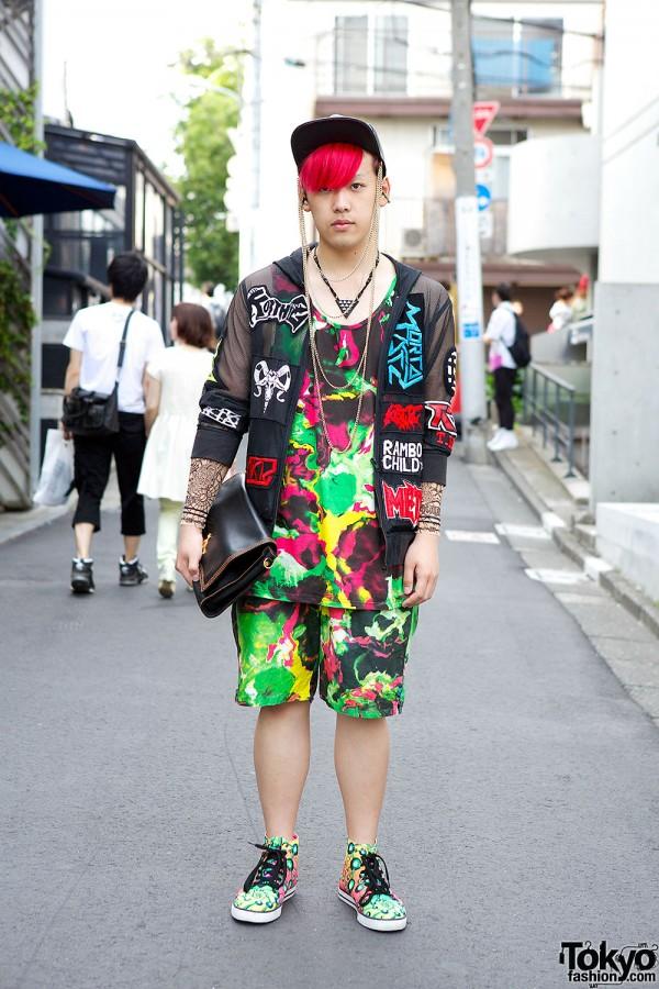 Harajuku Guy w/ Pink Hair Sixpack x PMKFA, KTZ & Space Tribe