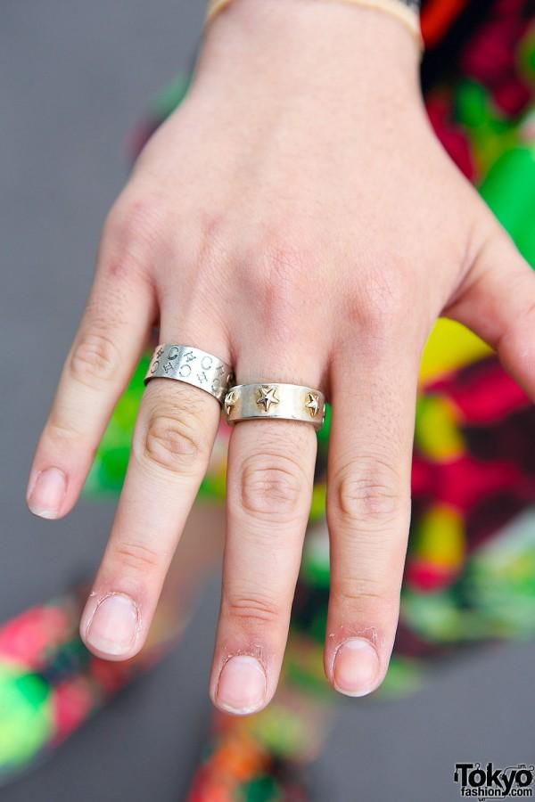 Harajuku Guy's Silver Rings