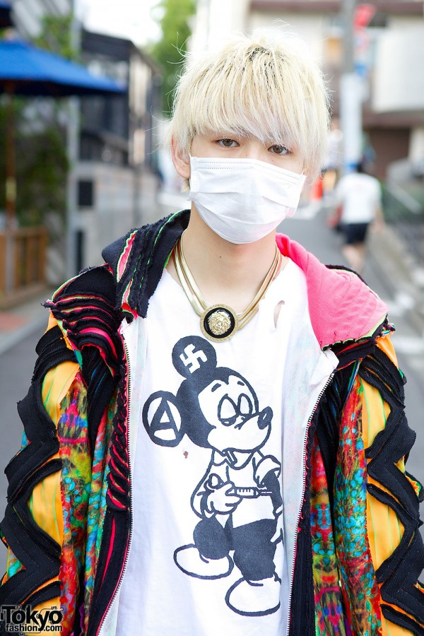 Anarchic Mickey Mouse t-shirt