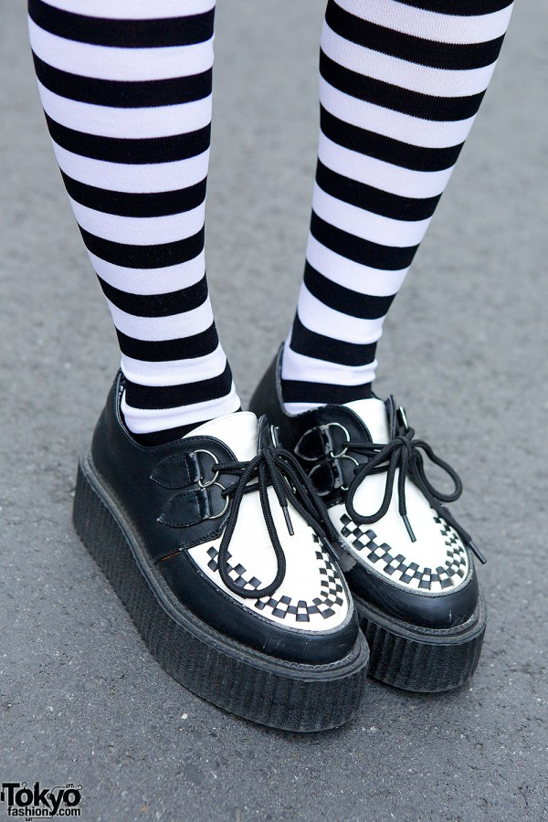 Creepers & Striped Socks