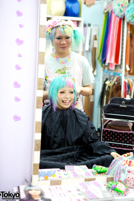 Viva Cute Candy Kawaii Colorful Hair Salon In Tokyo