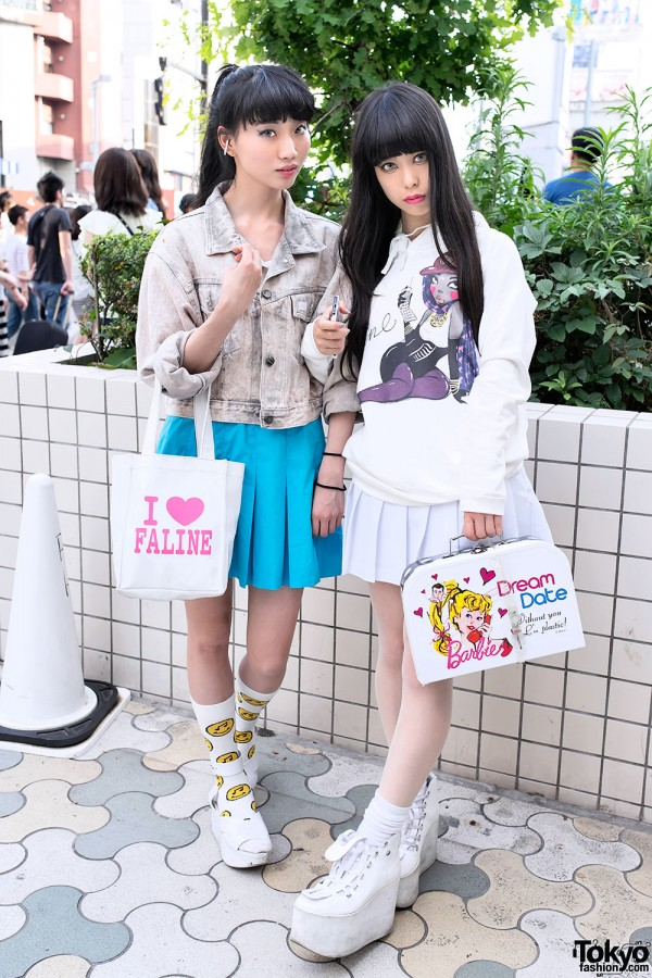 Asami and Riangel in Harajuku