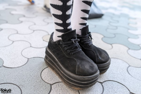 Platform Shoes & Graphic Socks