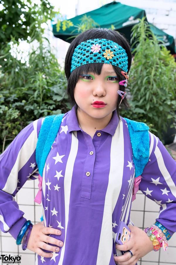 Harajuku Decora in Purple and Blue