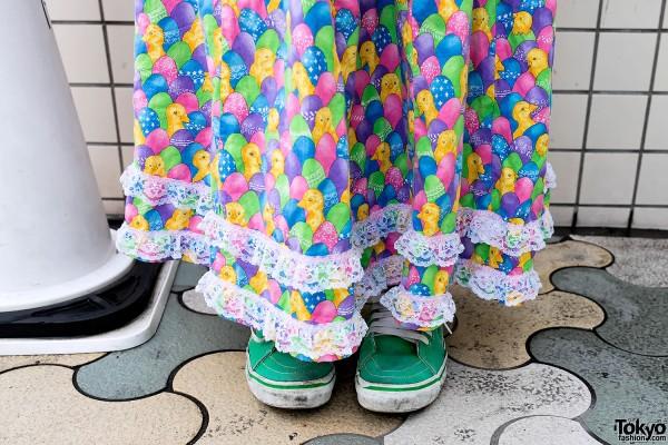 Cute Maxi-skirt & Sneakers