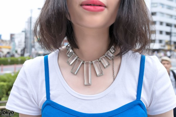Glass Statement Necklace