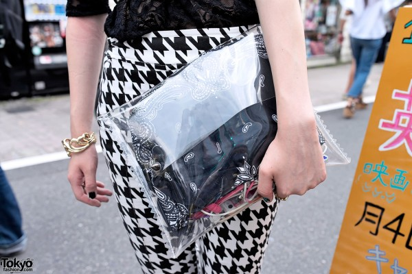 Clear Cluth & Houndstooth Pants