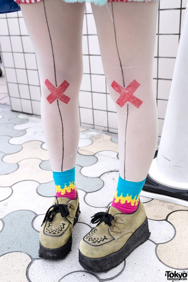 Cute Cross Tights & Creepers