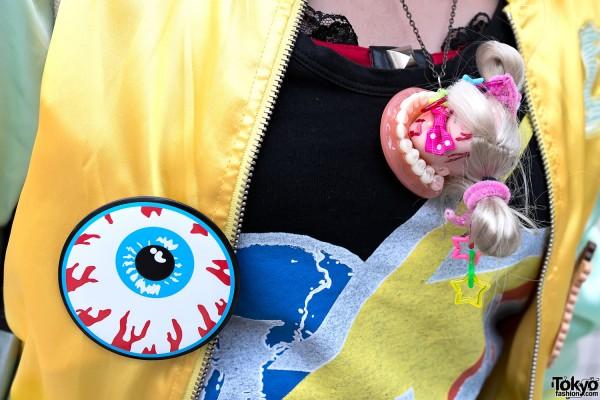 Doll Head & Teeth Necklace