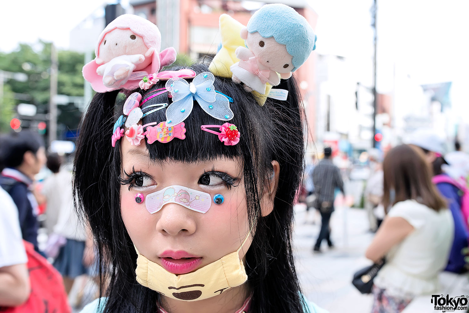 Decora Fashion Little Twin Stars Doll Head Eyeballs