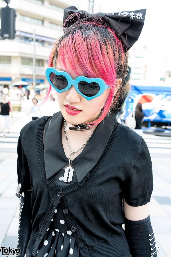 Heart Sunglasses & Pink Hair