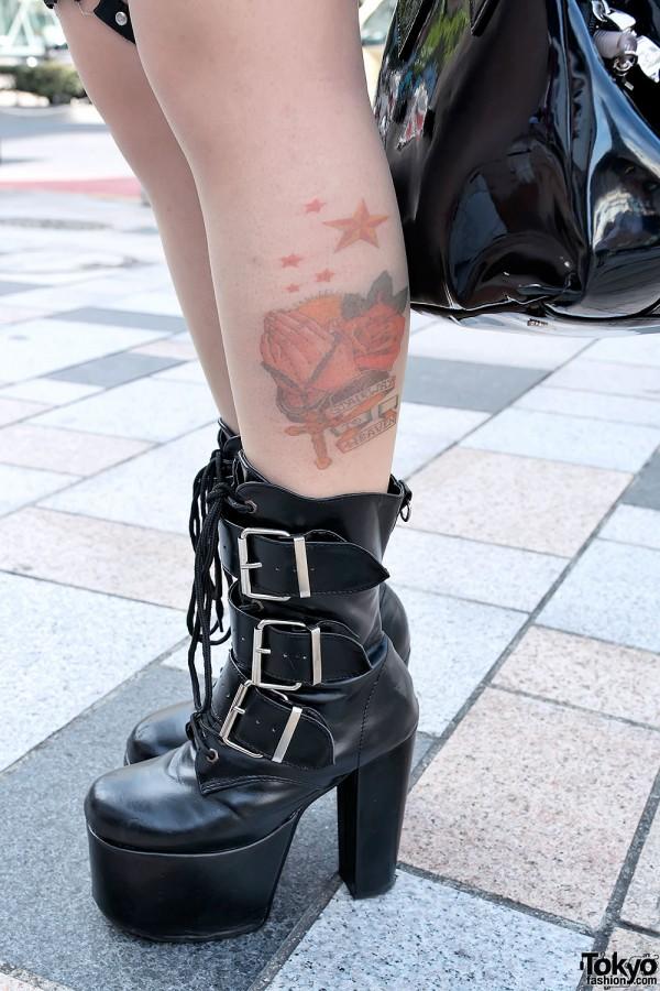 Tattoo Tights & Demonia Boots