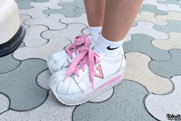 Pin Nap Platform Sneakers, Harajuku