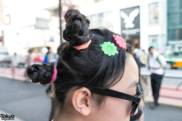 Cute Harajuku Hairstyle & Hair clips