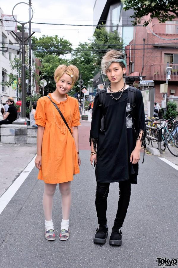 Yellow Hair & Keds vs Green Hair & Tokyo Bopper on Cat Street