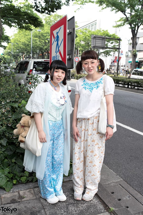 Harajuku Girls w/ Pajama Pants, Teddy Bears & Boy Tokyo