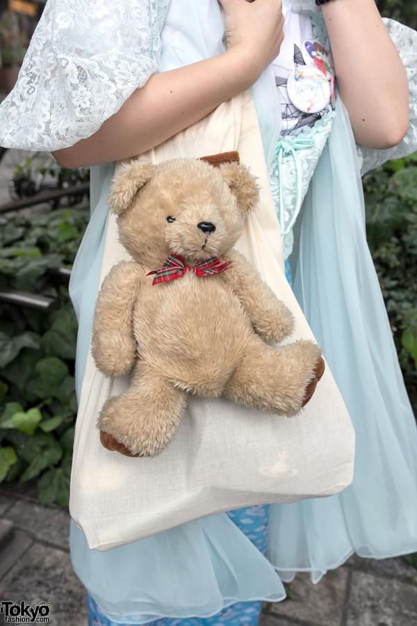 Teddy Bear Tote Bag in Harajuku