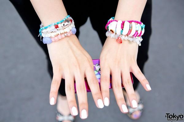 Handmade bracelets in Harajuku