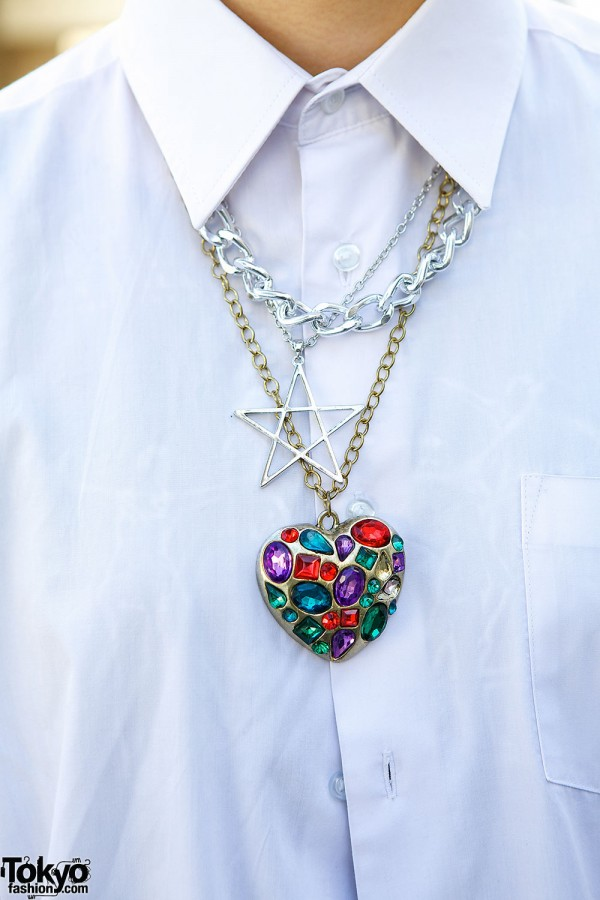 Heart and star necklaces