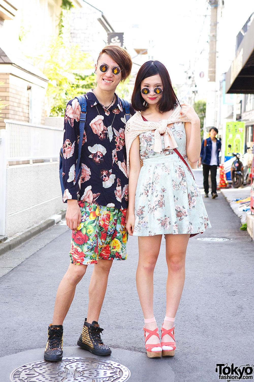 Matching Sunglasses in Harajuku