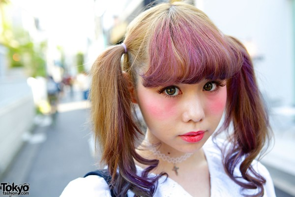 Ombre hair & kawaii makeup
