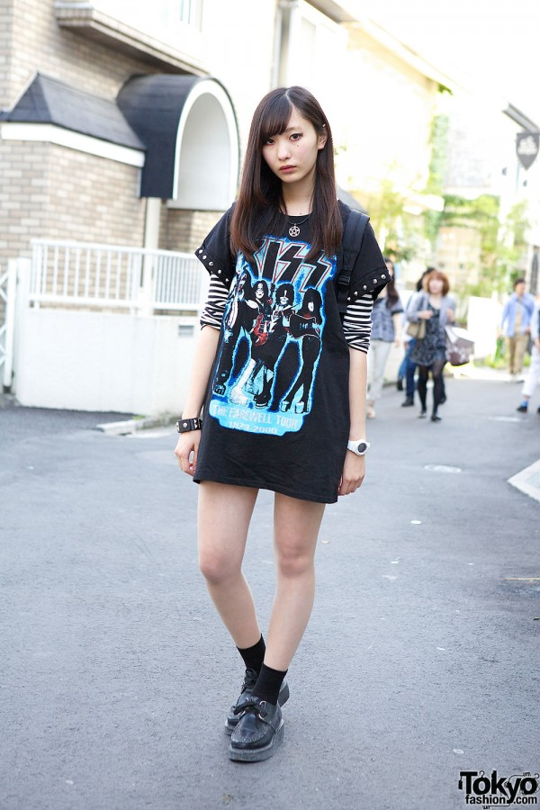 Maximum the Hormone Fan w/ Kiss T-shirt, Safety Pins, Studs & Creepers