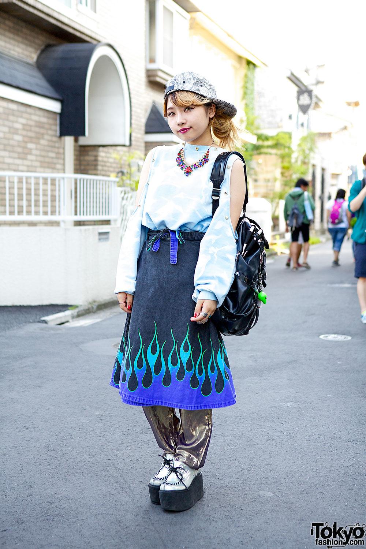 Fig&Viper top & Bubbles Flame Skirt