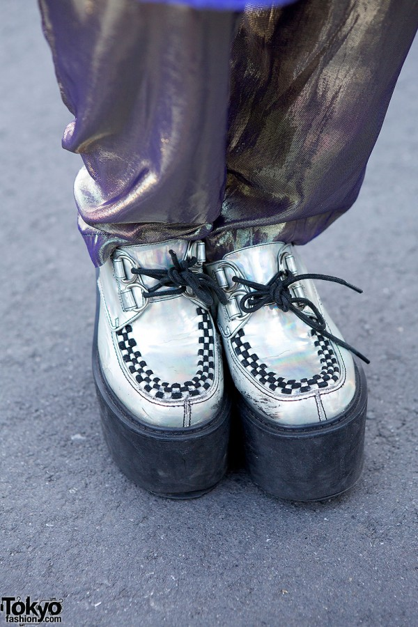 One Spo Silver Creepers