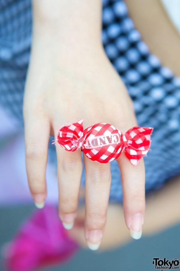 Kawaii candy ring