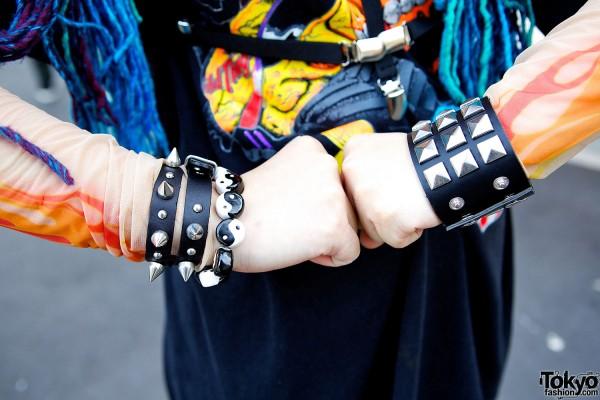 Studded Leather Bracelets