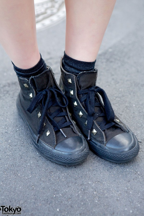 Converse studded sneakers