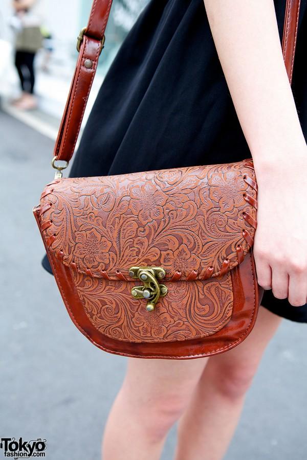 Brown encrusted bag