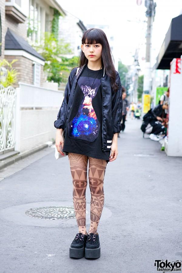Space Print, Tattoo Tights, Namaiki Bag & Nadia Harajuku Creepers