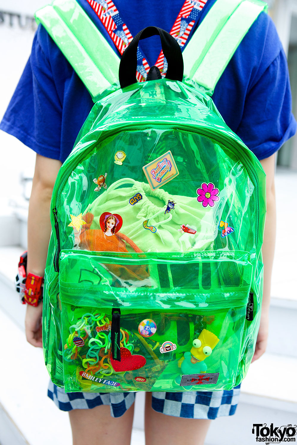 Japanese Car Brands >> Clear Backpack, Twintails, Rainbow Platforms & Toy Car Bracelet in Harajuku