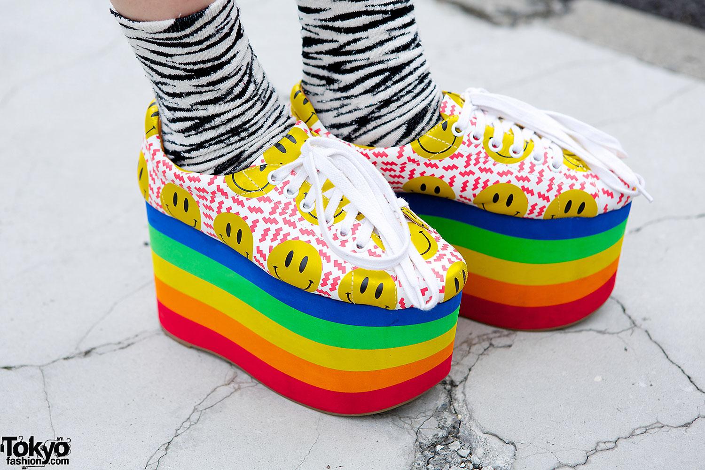 Jeffrey Campbell Rainbow Platforms Tokyo Fashion News