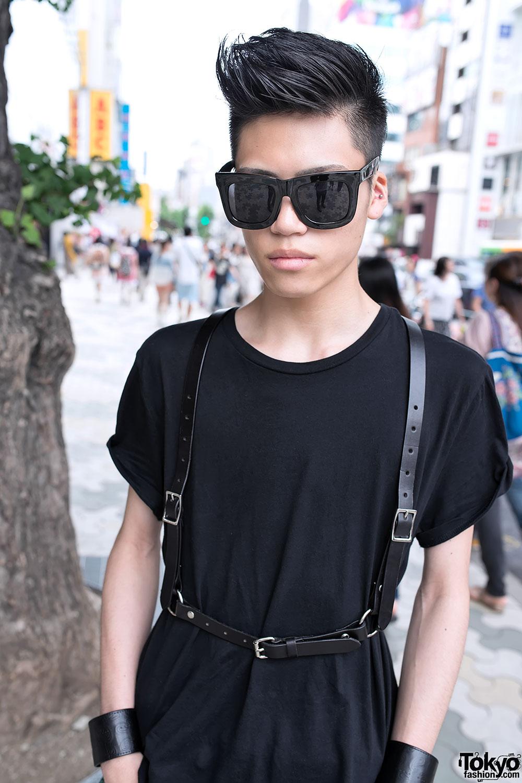 Leather Harness   Harajuku Guy e9bfcb5fad5