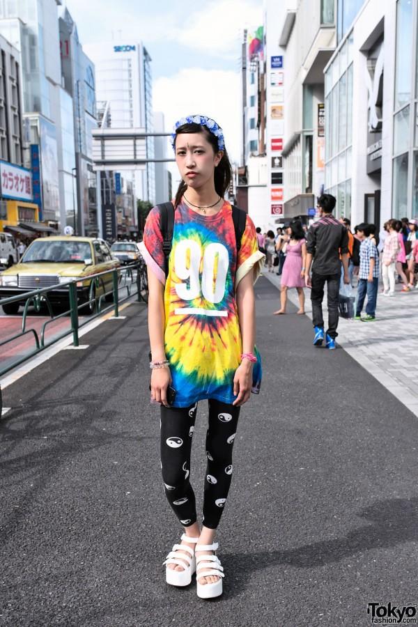 Oversized Tie-Dye Jersey in Harajuku