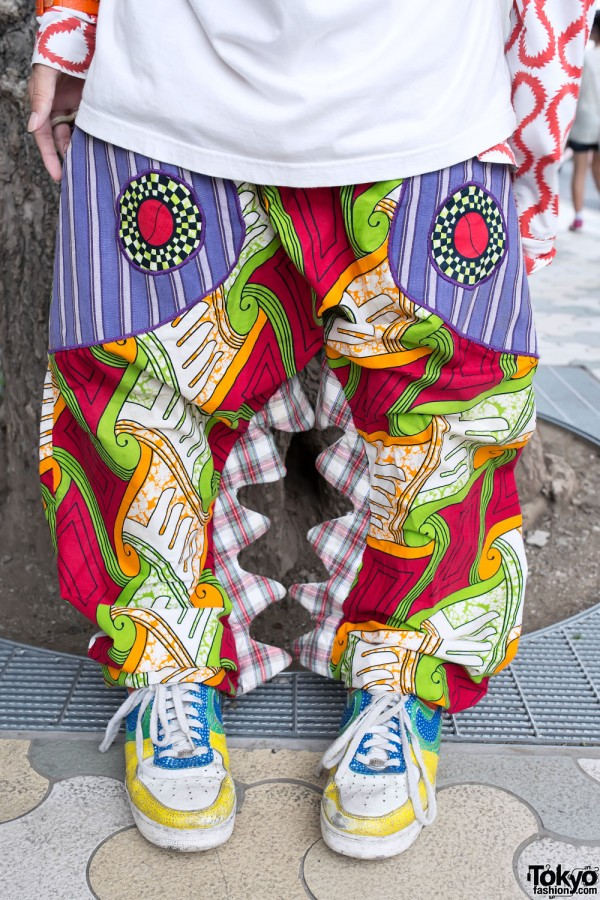 Super Colorful Horned Pants in Harajuku