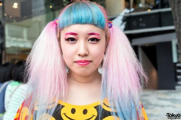 Cute Pastel Hair in Harajuku