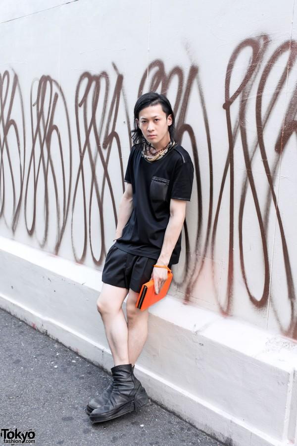 Julius Boots, Juun.J Neon Clutch & Mawi Necklace in Harajuku
