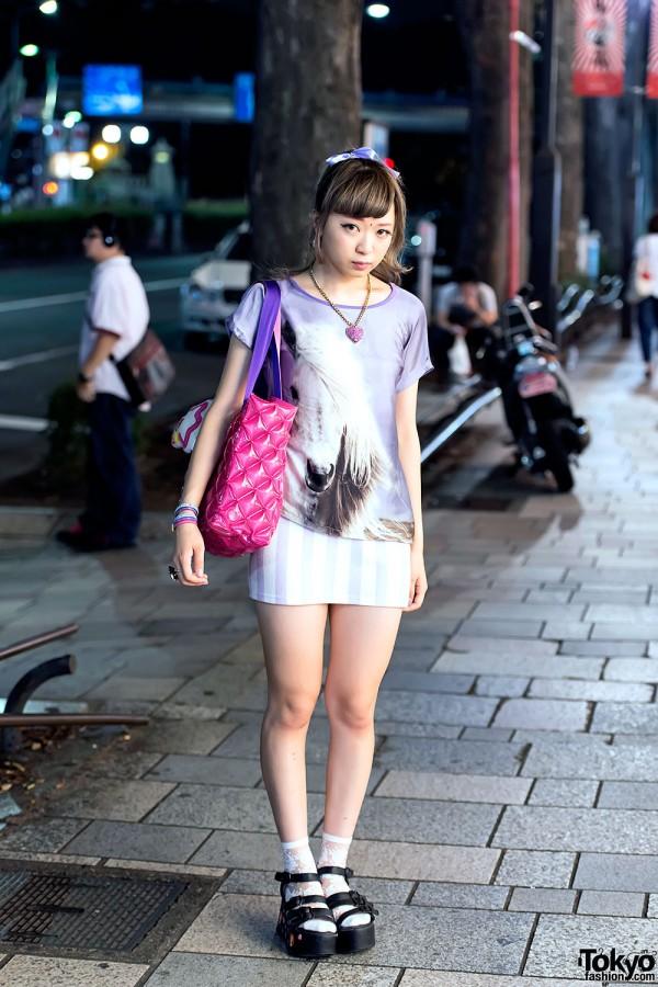 Purple Horse T-Shirt & Mini-Skirt