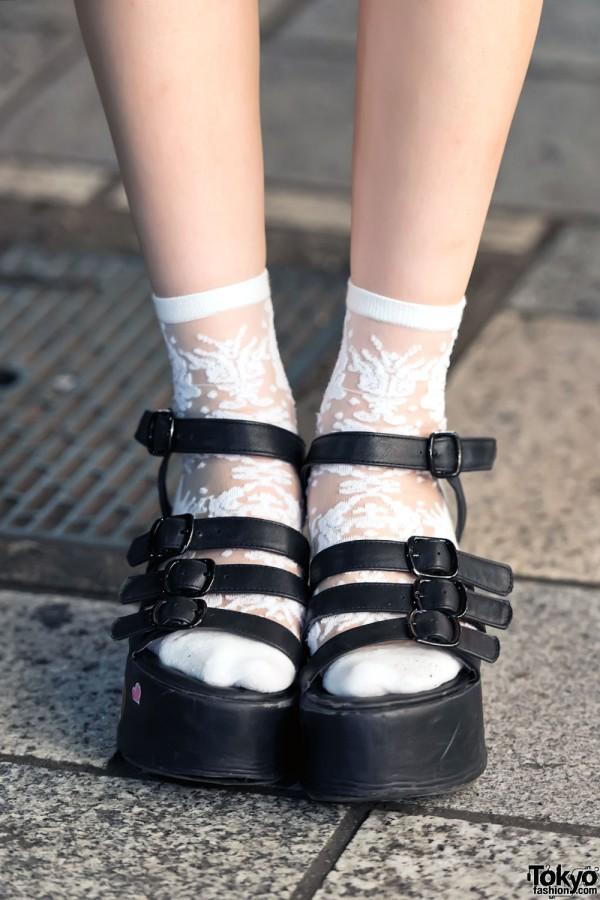 Sheer Socks & Platform Sandals