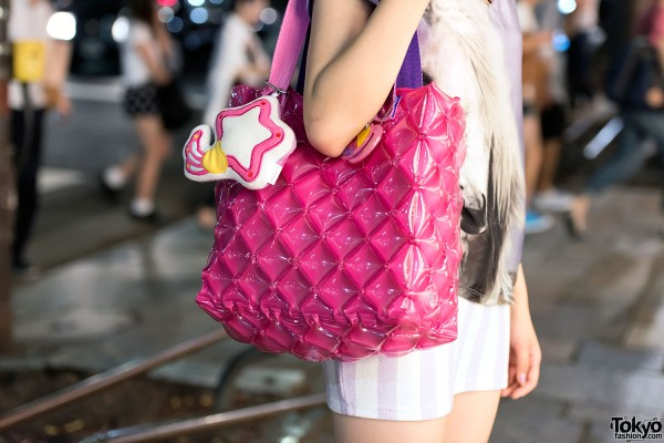 Creamy Mami Star Charm & Quilted Bag