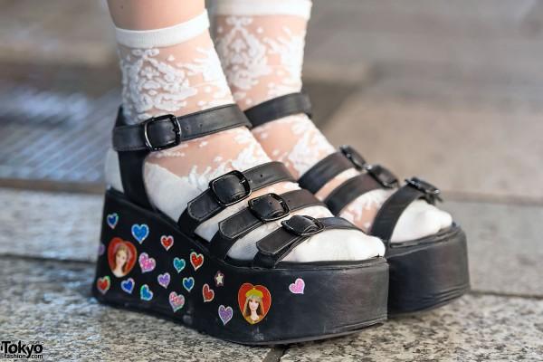 Kawaii Stickers on WEGO Platform Sandals