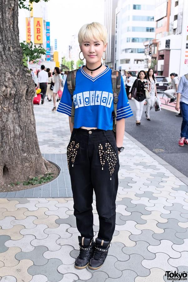 Pixie Cut w/ Fig & Viper, Crop Top & Sneaker Wedges in Harajuku